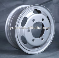 steel wheel 5.5-15 for light truck silver painting finished