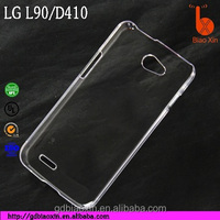 best popular mobile phone case for LG L90, crystal cellphone cover for LG D410 PC hard case