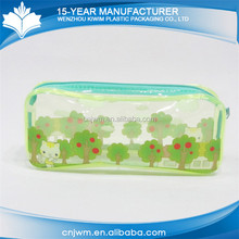 Experienced supplier school pvc plastic pencil case with zipper