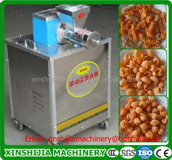 Cheap cost multi-functional automatic snack extruder machine