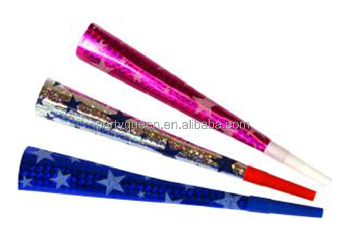 Party paper blow horn with star printing PH-16