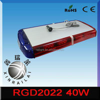 led emergency vehicle strobe lights/lightbars 12v 40w RGD2022 for emergency car heavy duty truck