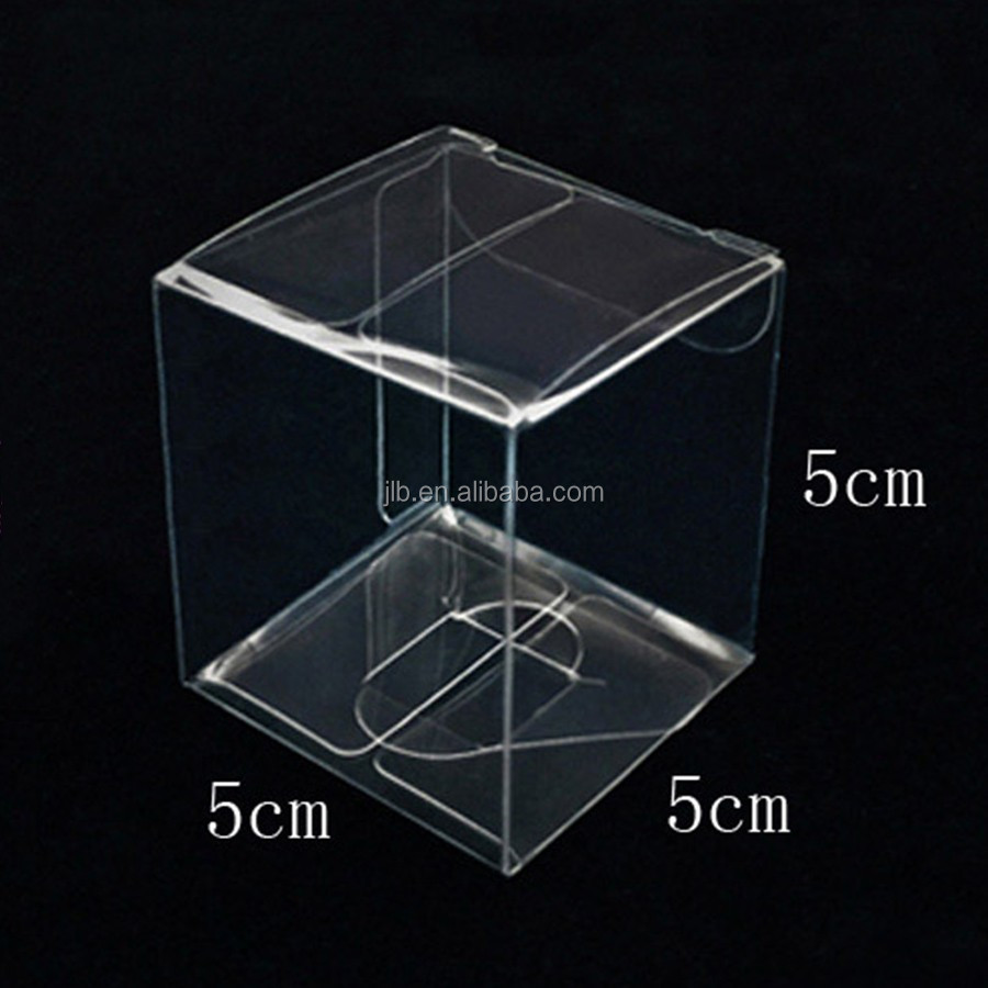 PVC PET gift box packaging clear plastic cube box