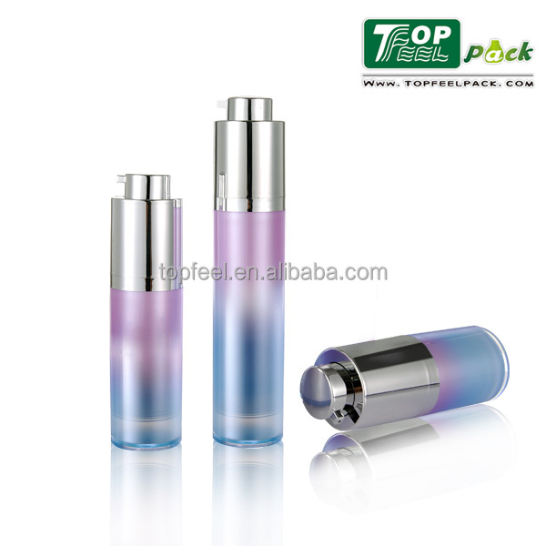 15/30/50ml Double Wall Acrylic Airless Pump Bottle with Screw on/off