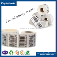 Anti theft a4 paper thermal barcode sticker label rolls, Washable clothes jewelry barcode printing garment label sticker paper
