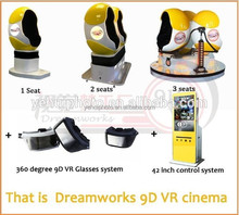 2016 Hot Sale Entertainment 3D/5D/7D/9D Cinema Theater /Type 9D Mini Motion vr Cinema with high quality