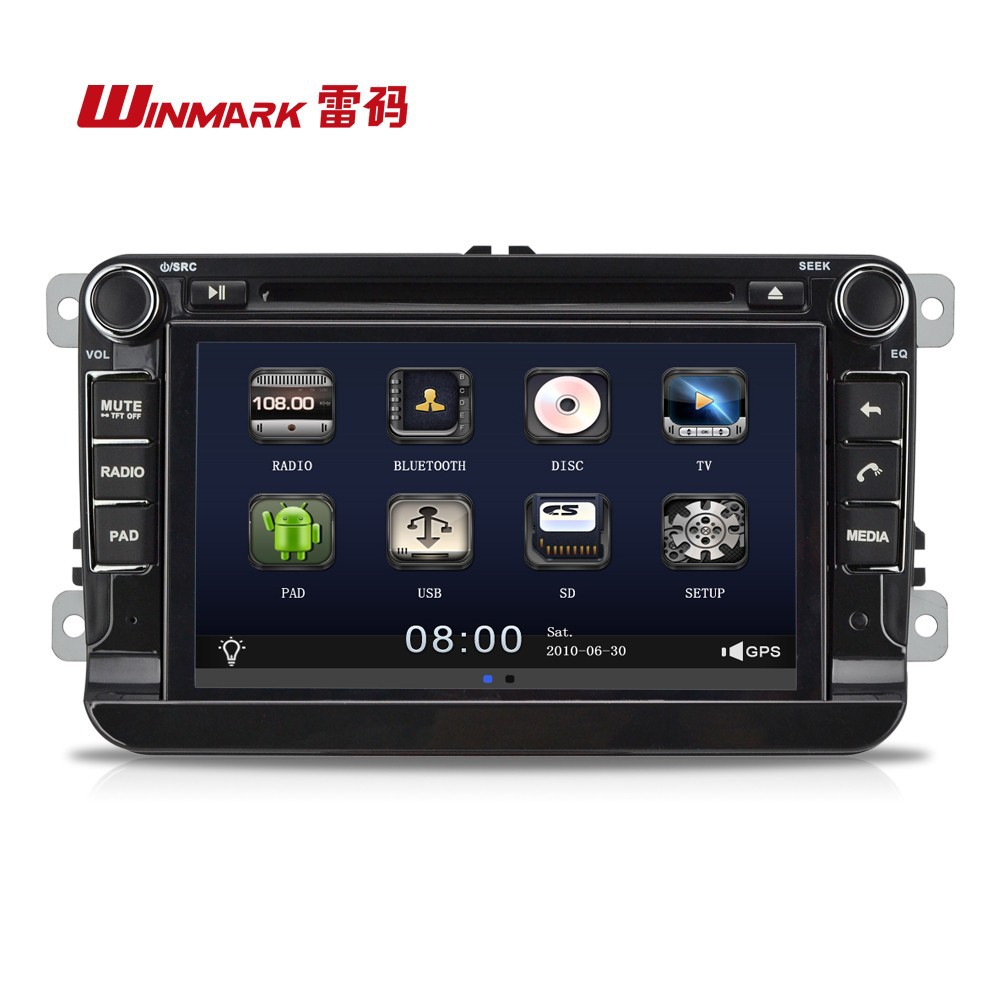 DM7836 Android double din universal car dvd gps radio audio video with dual gps dual BT radio USB SD etc.for VW-Magotan.