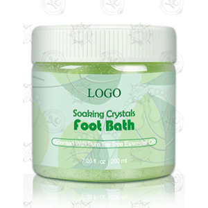 Hot Selling Soaking Crystals Foot Bath with Tea Tree Essential Oil and Dead Sea Salt Soothing Foot Skin 200ml