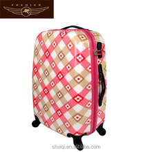 Flower printed superior ABS PC luggage travel bag /trolley luggage
