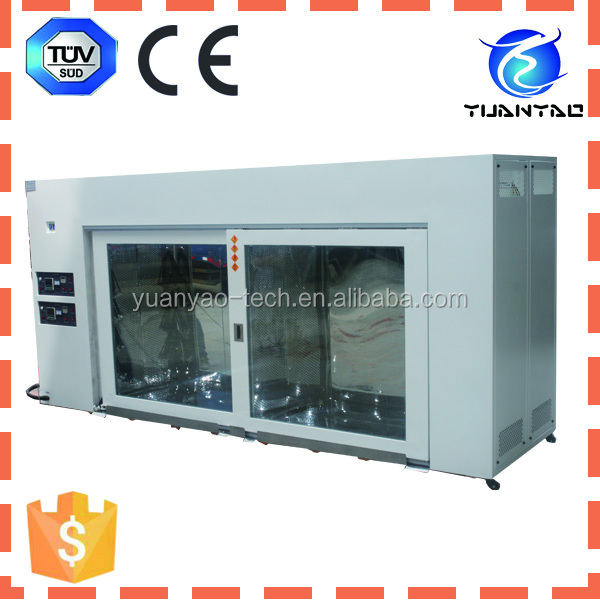Safe and stable temperature aging room for environmental testing