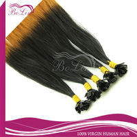 100 % remy hair human hair extensions/highlight/ two tone / ombre nail tip fusion hair