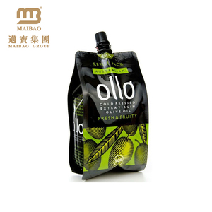 Customized Made Aluminum Foil Liquid Packing Cooking Oil Plastic Bag Packaging / Olive Oil Pouches With Spout