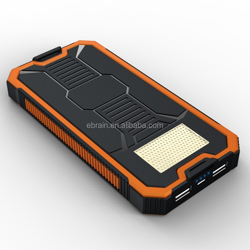 Portable Solar Power Bank With Strong led Flashlight 10000mAh