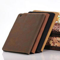 smart wake and sleep matt pu leather stand case for ipad mini