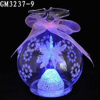 LED snow globe with snowflack inside