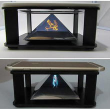 3D Holographic Hologram Display Pyramid Suck Stand Projector For Android iPhone