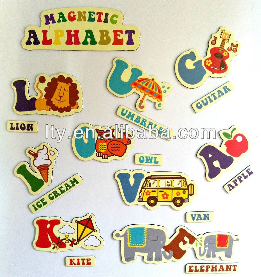 original retro alphabet fridge magnets (M-C122)