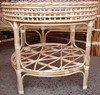 Cane Wicker Round Table