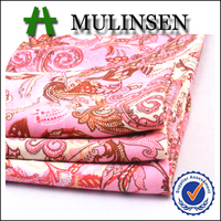 Mulinsen Textile Placement Design Woven 30s*24s Rayon Challis Chinese 100% Viscose Printed Fabric