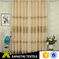 Fashion latest design home textile 100% polyester heavy blackout curtain