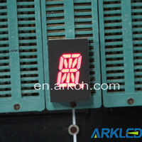 0.5 inch one digit 14 segment led display with different colors