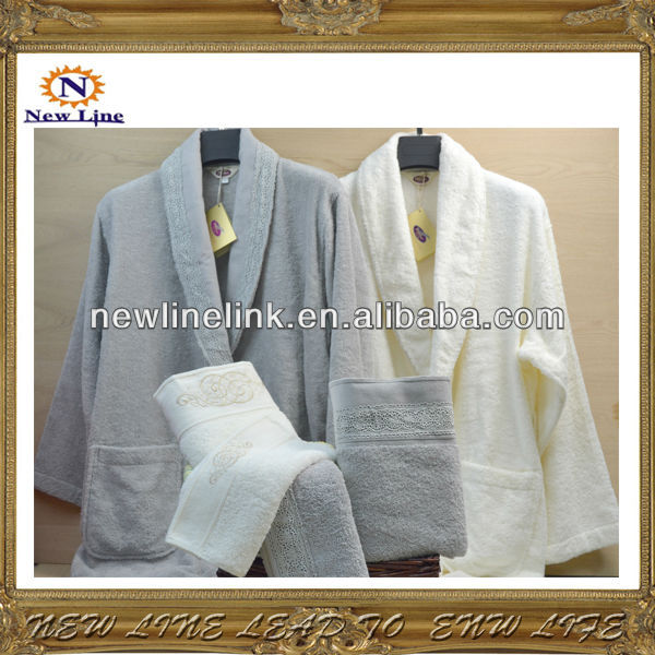 Victoria model 400gsm cotton hotel robes for women