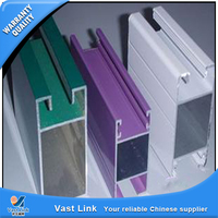 Plastic powder coating aluminium section for construction