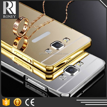 luxury aluminum ultra-thin mirror phone case for samsung galaxy s4 s5