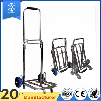 WBD 2017 Hot sell Easy folding stainless steel aluminium trolley