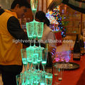 LED glowing champagne drinking glass