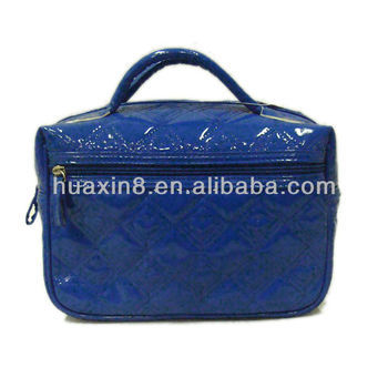 HX1310372 shiny pvc quilting cosmetic case 2014