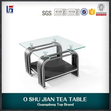 2016 high quality modern glass coffee table