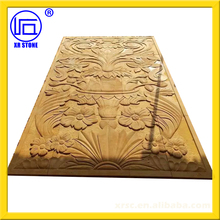 yellow sandstone relief sculpture for wall decoration