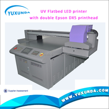 60*90cm, 1*1.5m,1.3*1.5m small format flatbed uv printer for glass inkjet printing with Epson and Ricoh head uv printer