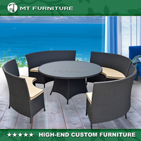 Home and Garden Round Restaurant Table and Chair
