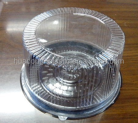 Disposable plastic blister cake /bread box/container