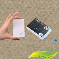 Built in cable business card design power bank 2500mah portable mobile phone chargers