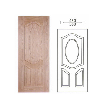 3mm White premier HDF moulded door skin with oak design