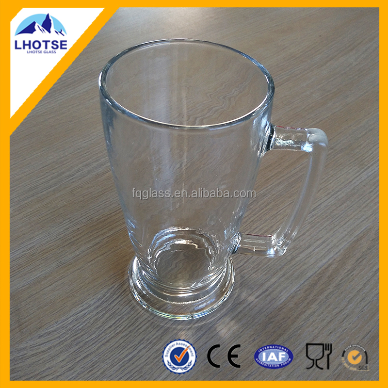 Glass beer stein with stand beer mug from Anhui factory Nanjing port