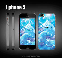 Creative White Whale 3D plastic phone case for iphone 5