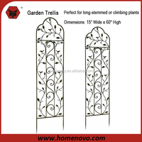 High Quality Competitive Price Simple Leaf Design 15.4 x 0.4 x 58.7 inches Garden Trellis Wholesale