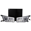 lantsun Chrome ATV-RZR1000 2014-2017 POLARIS RZR 1000 XP 900 ATV LED Headlights DRL Conversion Kit
