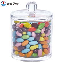 Top quality unique mini small acrylic plastic candy jar with lid
