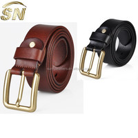 Belt Hot Selling Men's Cowhide Leather Belt with Rivet