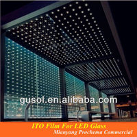 ITO film for flexible LED panel & LED glass