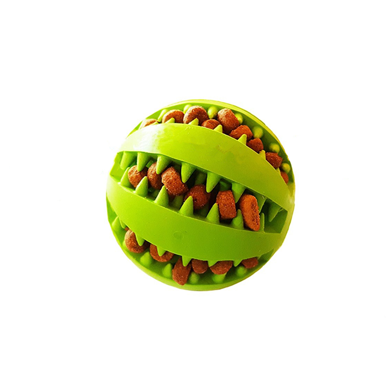 High Quality Dental Treat Rubber Dog Ball Toy
