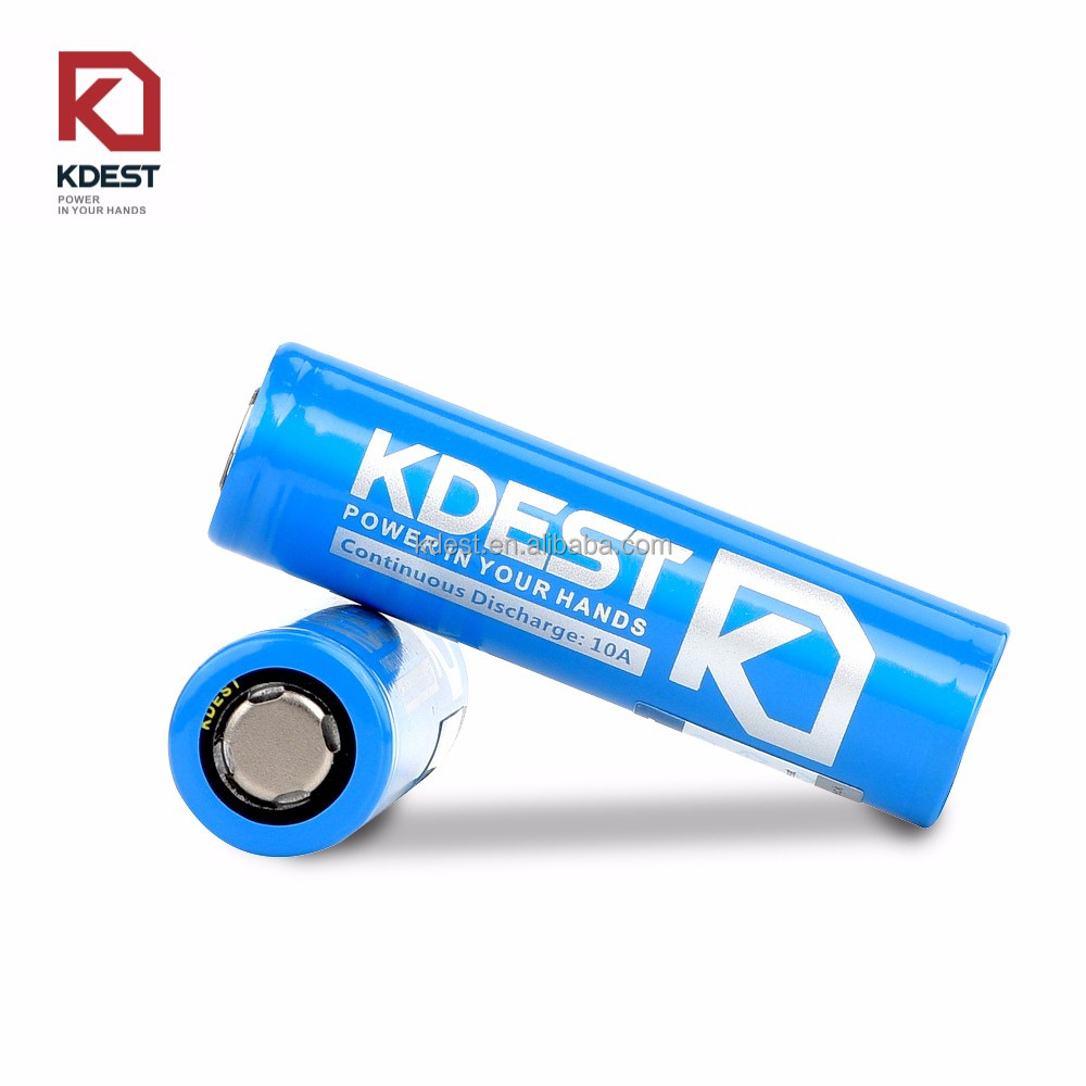 CE ROHS certificate authentic Kdest K5B battery 18650 3200mAh 3.7v battery used for torch laser pointer camera e-cig