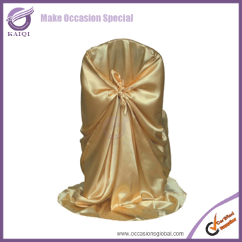 YT02482 wholesale gold self tie bow tie shiny satin cheap wrap chair covers