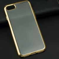 Multi Color Transparent Silicon Case For Apple iPhone 7 case