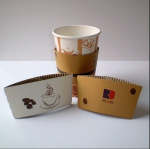 super september disposable printed paper coffee cup sleeve